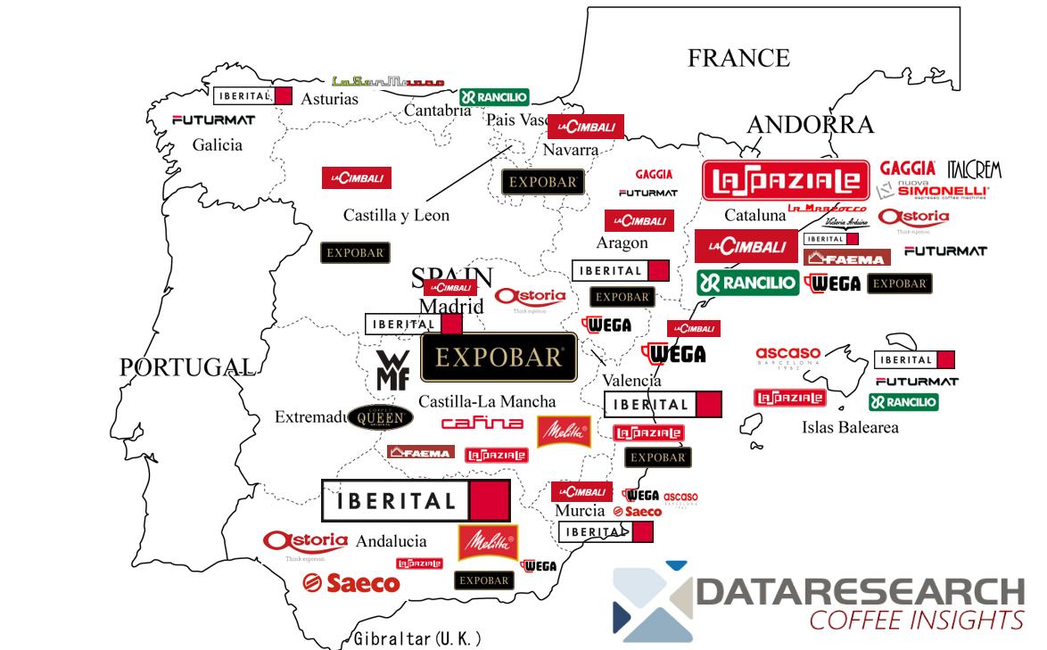 Spain - distribution