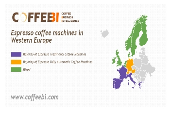 Europe Between Traditional and Automatic Espresso Machines