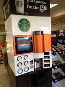 Starbucks machine on the go