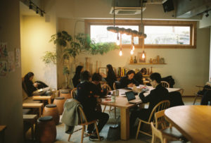 Inside the Neighborhood and Coffee Store in Okusawa,Tokyo. Image Credit: Dave Powell – Shoot Tokyo