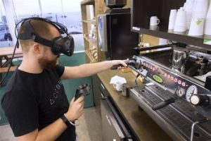Experiments in Virtual Reality Barista Training