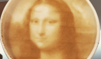 gioconda in the coffe by ripple