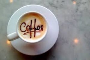 cup of coffe written insede coffee