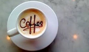 cup of coffe written insede coffee