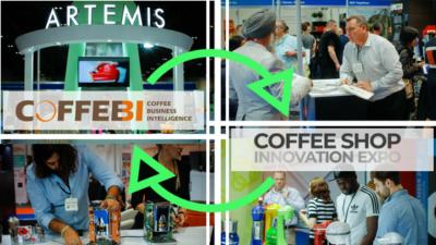 Coffee shop exhibition in London